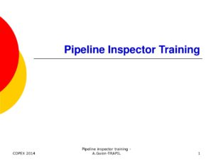 Competence Management: Pipeline inspector training - Concawe